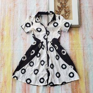 Anthro Lil Epoque Keyhole Back Shirt Dress 00P